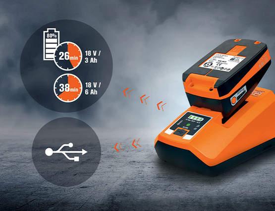 Chargeur ALG 80 et batteries 18 V et 12 V Fein